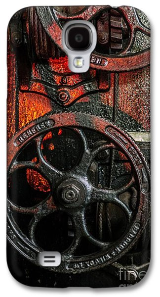 Gear Photographs Galaxy S4 Cases - Industrial Wheels Galaxy S4 Case by Carlos Caetano