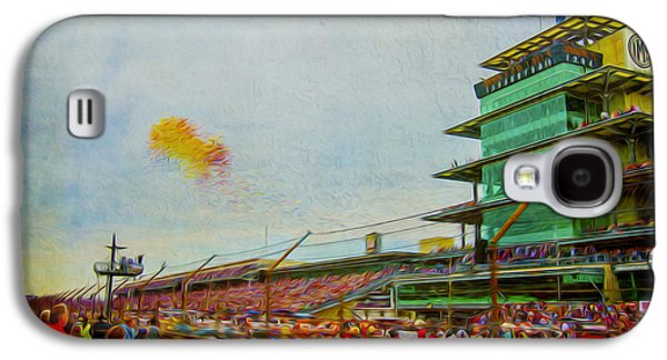 Indiana Scenes Galaxy S4 Cases - Indy 500 May 2013 Race Day Start Balloons Galaxy S4 Case by David Haskett