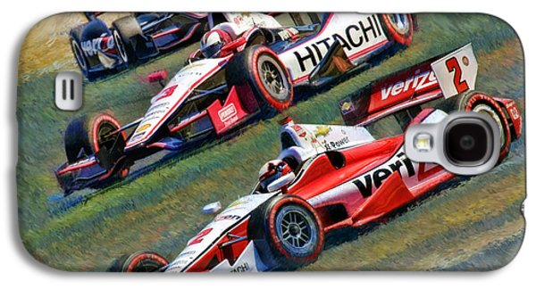 Will Power Photographs Galaxy S4 Cases - Indy Cars Penske Team Juan Montoya Helio Castroneves Will Power   Galaxy S4 Case by Blake Richards
