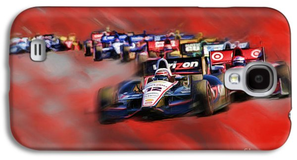 Will Power Photographs Galaxy S4 Cases - Indy Cars Will Power Galaxy S4 Case by Blake Richards