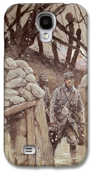 Infantrymen In A Trench, Notre-dame De Lorette, 1915 Wc On Paper Galaxy S4 Case by Francois Flameng