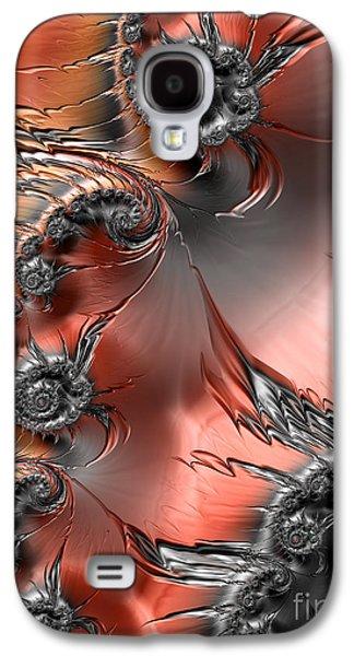 Abstract Digital Digital Galaxy S4 Cases - Inferno  Galaxy S4 Case by Heidi Smith