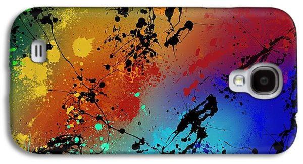 Blue Abstract Galaxy S4 Cases - Infinite M Galaxy S4 Case by Ryan Burton
