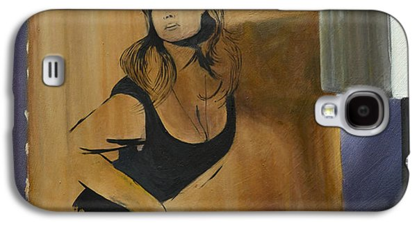 Hammer Paintings Galaxy S4 Cases - Ingrid on Cardboard Galaxy S4 Case by Cathal Gallagher