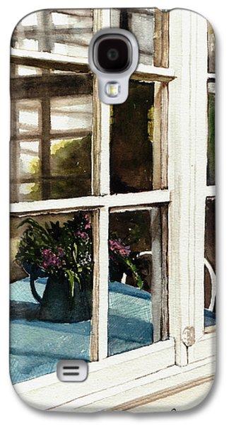 Old Pitcher Paintings Galaxy S4 Cases - Inn Window Galaxy S4 Case by Deborah Burow