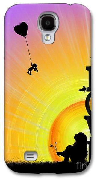 Balloon Flower Galaxy S4 Cases - Inner Child Galaxy S4 Case by Tim Gainey