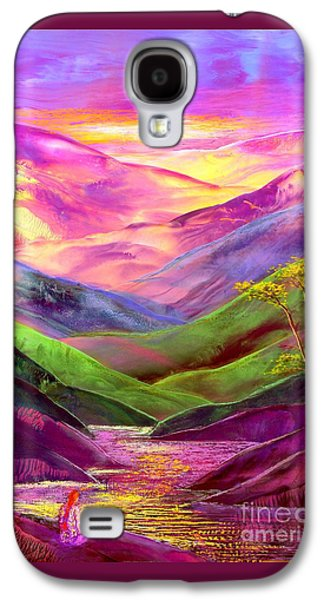 Colorful Abstract Galaxy S4 Cases - Inner Flame Galaxy S4 Case by Jane Small