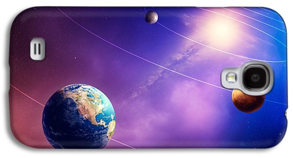 Terrestrial Galaxy S4 Cases - Inner solar system planets Galaxy S4 Case by Johan Swanepoel