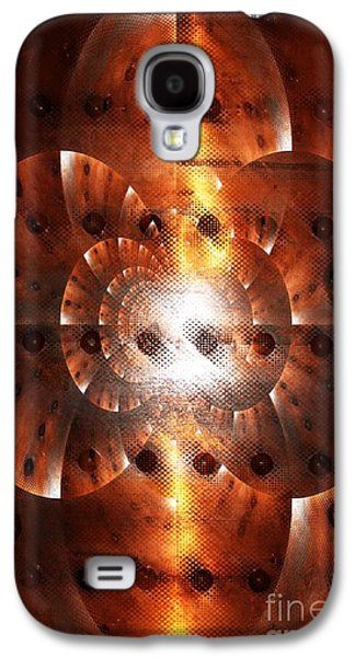 Abstract Digital Mixed Media Galaxy S4 Cases - Inner Strength - Abstract Art Galaxy S4 Case by Carol Groenen