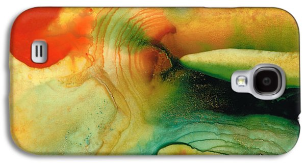Abstract Landscape Galaxy S4 Cases - Inner Strength - Abstract Painting by Sharon Cummings Galaxy S4 Case by Sharon Cummings