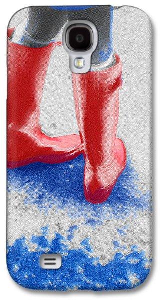 Interior Scene Mixed Media Galaxy S4 Cases - Innocence In The Rain Galaxy S4 Case by Tony Rubino