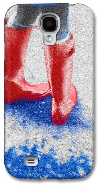 Innocence Mixed Media Galaxy S4 Cases - Innocence In The Rain Galaxy S4 Case by Tony Rubino