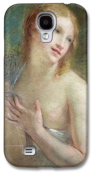 Girl Pastels Galaxy S4 Cases - Innocence Galaxy S4 Case by Pierre-Paul Prud