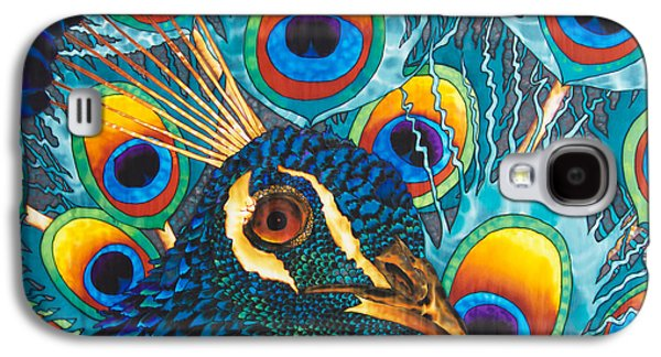 Animals Tapestries - Textiles Galaxy S4 Cases - Insane Peacock Galaxy S4 Case by Daniel Jean-Baptiste