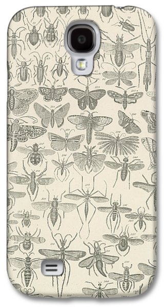 Nature Drawings Galaxy S4 Cases - Insects Galaxy S4 Case by English School
