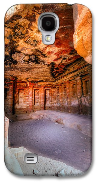 Petra - Jordan Galaxy S4 Cases - Inside the tomb Galaxy S4 Case by Alexey Stiop