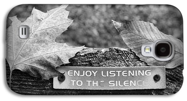 Inner Peace Galaxy S4 Cases - Inspirational Words to Live By in Black and White Galaxy S4 Case by Paul Ward