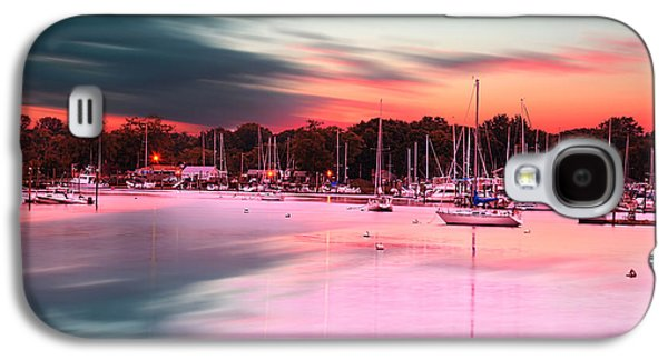 Warwick Galaxy S4 Cases - Inspiring View - Rhode Island At Dusk Warwick Neck Marina Harbor Sunset Galaxy S4 Case by Lourry Legarde