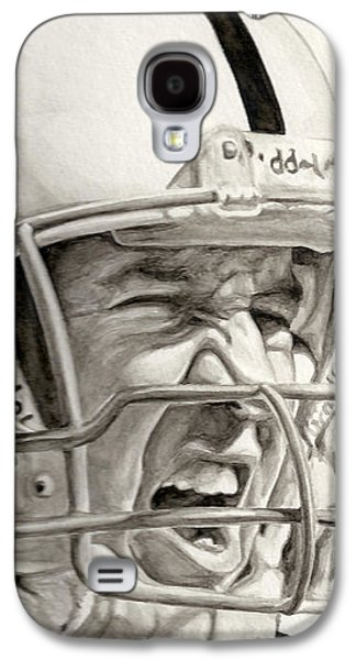 Pro Football Galaxy S4 Cases - Intensity Peyton Manning Galaxy S4 Case by Tamir Barkan