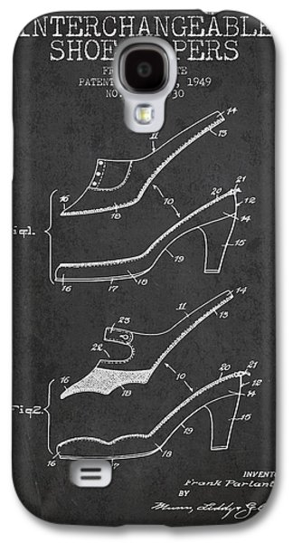 Shoe Digital Art Galaxy S4 Cases - Interchangeable Shoe Uppers patent from 1949 - Charcoal Galaxy S4 Case by Aged Pixel