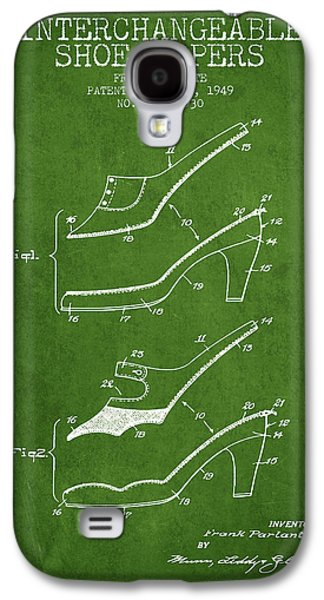 Shoe Digital Art Galaxy S4 Cases - Interchangeable Shoe Uppers patent from 1949 - Green Galaxy S4 Case by Aged Pixel