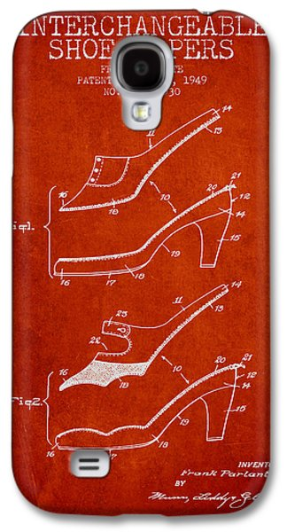 Shoe Digital Art Galaxy S4 Cases - Interchangeable Shoe Uppers patent from 1949 - Red Galaxy S4 Case by Aged Pixel