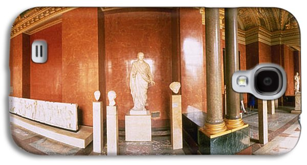 Decorative Photographs Galaxy S4 Cases - Interior Louvre Museum Greco Roman Room Galaxy S4 Case by Panoramic Images