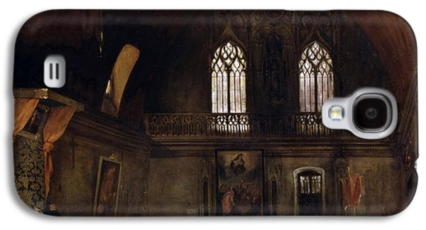 Delacroix Galaxy S4 Cases - Interior of a Dominican Convent in Madrid Galaxy S4 Case by Eugene Delacroix