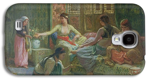 Orientalists Galaxy S4 Cases - Interior Of A Harem, C.1865 Oil On Canvas Galaxy S4 Case by Leon-Auguste-Adolphe Belly