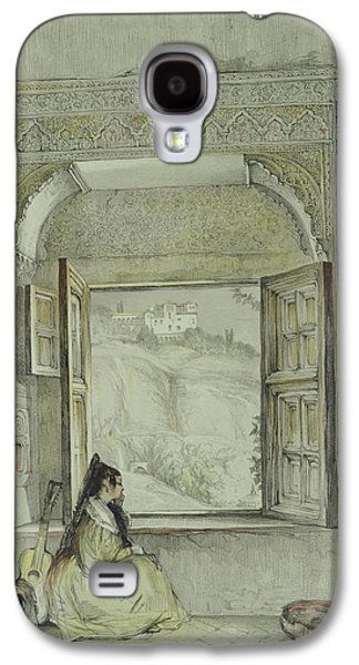 Orientalists Galaxy S4 Cases - Interior Of The Palace at Madura Galaxy S4 Case by Thomas Daniell