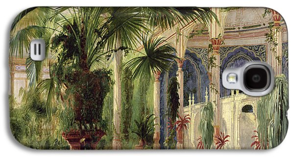 Orientalists Galaxy S4 Cases - Interior of the Palm House at Potsdam Galaxy S4 Case by Karl Blechen