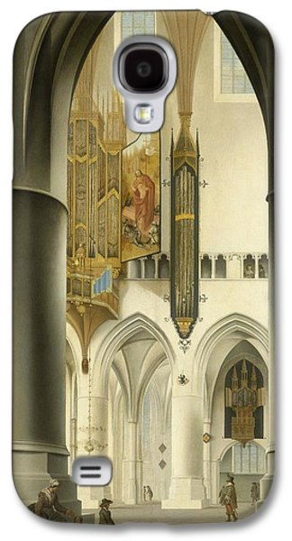 1636 Paintings Galaxy S4 Cases - Interior of the St. Bavo Church in Haarlem Galaxy S4 Case by Pieter Jansz Saenredam