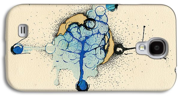 Blue Abstracts Galaxy S4 Cases - Internal Landscape Nine Galaxy S4 Case by Mark M  Mellon