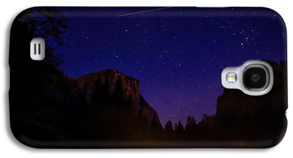 Cathedral Rock Galaxy S4 Cases - International Space Station over Yosemite National Park Galaxy S4 Case by Scott McGuire