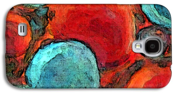 Interplanetary Space Paintings Galaxy S4 Cases - Interplanetary Orbs Galaxy S4 Case by Owen McCafferty