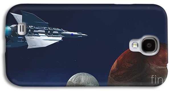 Jet Star Galaxy S4 Cases - Interplanetary Travel Galaxy S4 Case by Corey Ford