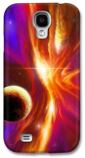 Stellar Paintings Galaxy S4 Cases - Intersteller Supernova Galaxy S4 Case by James Christopher Hill