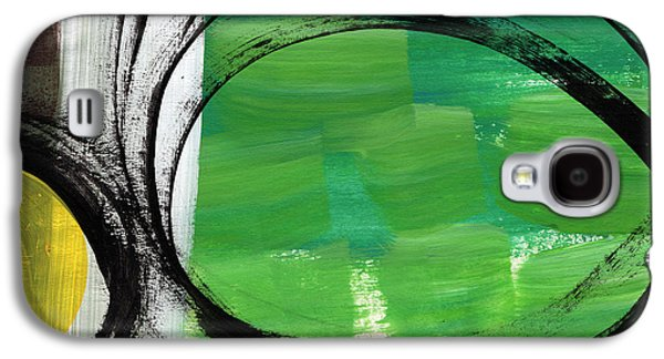 Studio Mixed Media Galaxy S4 Cases - Intertwined- Abstract Painting Galaxy S4 Case by Linda Woods