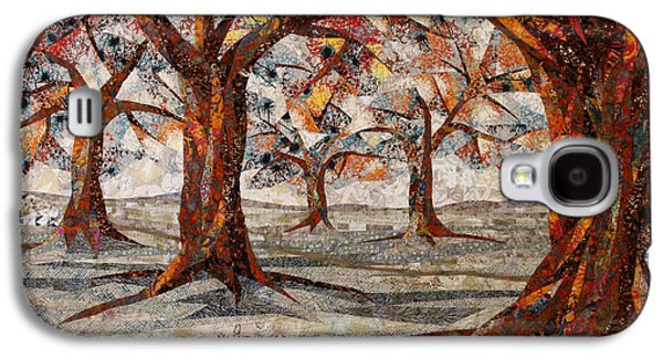 Autumn Landscape Tapestries - Textiles Galaxy S4 Cases - Interwoven Galaxy S4 Case by Linda Beach