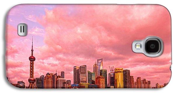 City Scape Galaxy S4 Cases - Into the future Galaxy S4 Case by Midori Chan