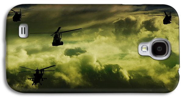 Helicopter Photographs Galaxy S4 Cases - Into the Future  Galaxy S4 Case by Paul Job