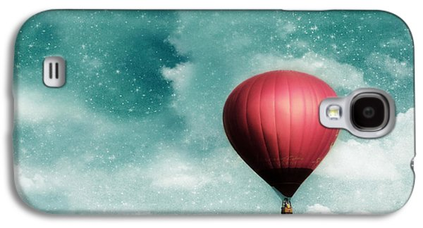 Hot Air Balloon Galaxy S4 Cases - Into the Night Galaxy S4 Case by Amy Tyler