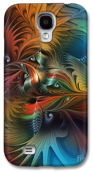 Mathematical Design Galaxy S4 Cases - Intricate Life Paths-Abstract Art Galaxy S4 Case by Karin Kuhlmann