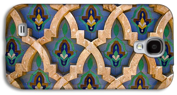 Intricate Zelji At The Hassan II Mosque Sour Jdid Casablanca Morocco Galaxy S4 Case by Ralph A  Ledergerber-Photography