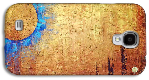 Brown Print Galaxy S4 Cases - Invisible Blue Sun Galaxy S4 Case by Sharon Cummings