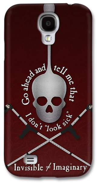 Crutch Digital Galaxy S4 Cases - Invisible Not Imaginary Galaxy S4 Case by SarahCate Philipson