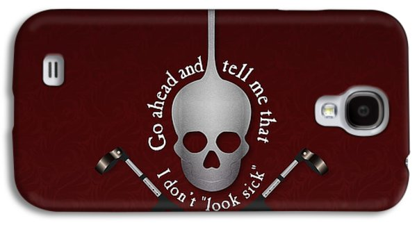 Crutch Digital Galaxy S4 Cases - Invisible Not Imaginary Square Galaxy S4 Case by SarahCate Philipson