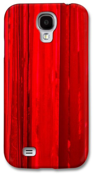 Mobile Designs Galaxy S4 Cases - iPhone Case - Red Curtain Galaxy S4 Case by Alexander Senin