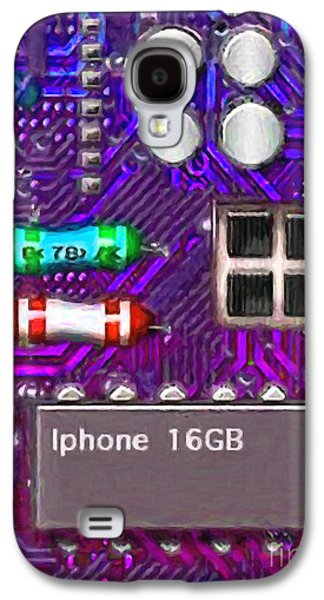 Circuit Board Galaxy S4 Cases - Iphone I-art p128 Galaxy S4 Case by Wingsdomain Art and Photography