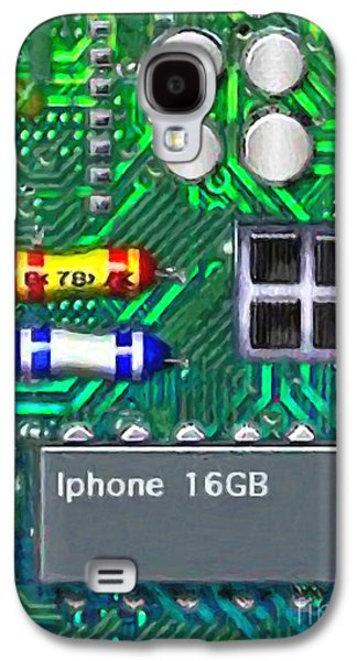 Circuit Board Galaxy S4 Cases - Iphone I-art Galaxy S4 Case by Wingsdomain Art and Photography